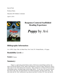 Poppy by Avi - Dordt College Homepages