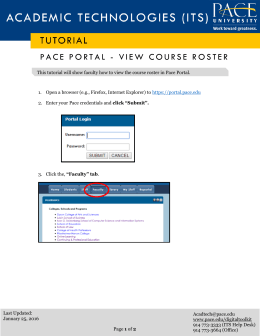 PACE PORTAL - VIEW COURSE ROSTER