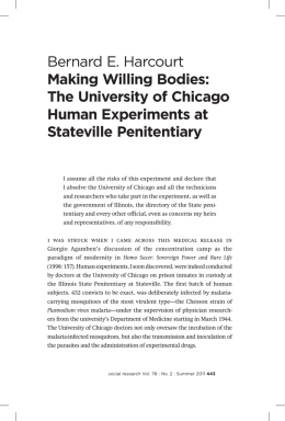 Bernard E. Harcourt Making Willing Bodies: The University of