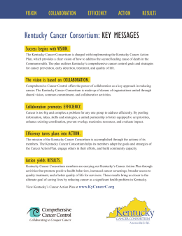 Kentucky Cancer Consortium: KEY MESSAGES