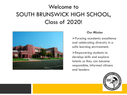 SBHS Class of 2020! - South Brunswick School District