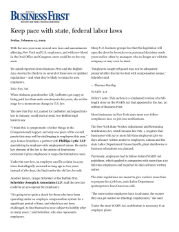 Keep pace with state, federal labor laws