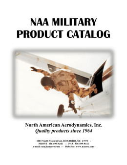 NAA MILITARY PRODUCT CATALOG