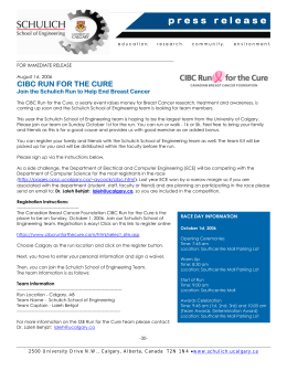 CIBC Run for the Cure - August 16