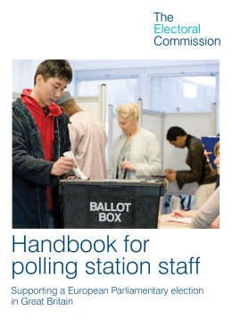 Handbook for polling station staff