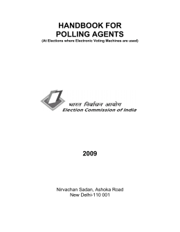 Handbook for Polling Agents - Election Commission of India