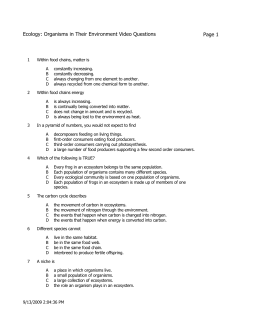 Ecology Review Worksheet pages 1-5