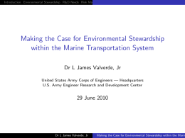 Making the Case for Environmental Stewardship within the Marine