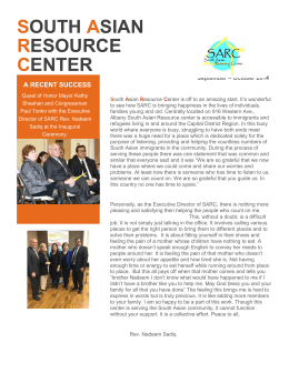 October 2014 - South Asian Resource Center