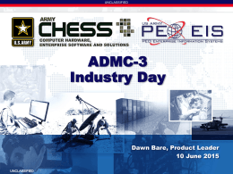 ADMC-3 Industry Day - The Coalition for Government Procurement