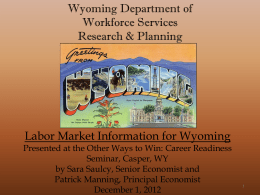 PDF Version  - Wyoming Department of Workforce Services