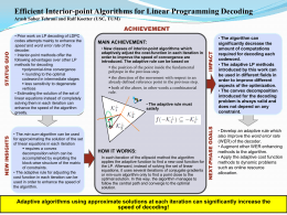 Efficient Interior-point Algorithms for Linear Programming Decoding