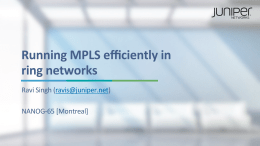 Running MPLS efficiently in ring networks