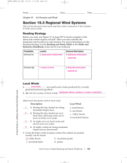 Section 19.3 Regional Wind Systems