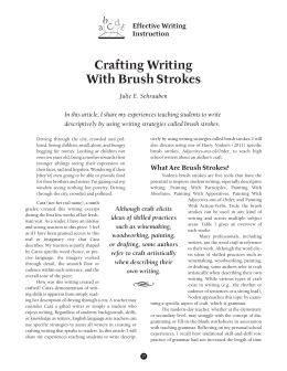 Crafting Writing With Brush Strokes