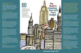IBO Roadmap80REV.indd - Independent Budget Office