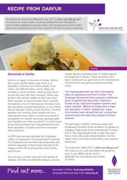 Recipe from Darfur - Holocaust Memorial Day Trust
