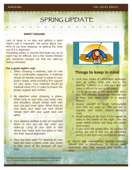 spring update - Healing Touch Natural Wellness