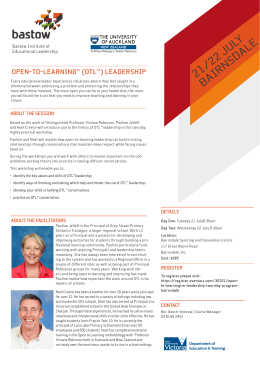 Open-To-Learning™ (OTL™) Leadership