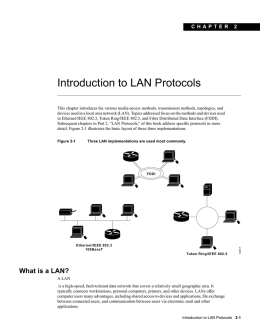 Introduction to LAN Protocols