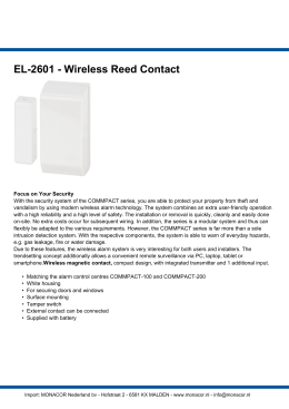 EL-2601 - Wireless Reed Contact
