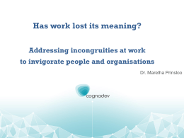 Has work lost its meaning?