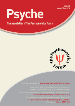 See review - Psychometrics Forum