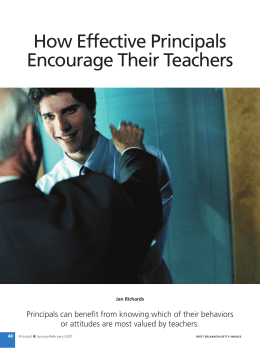 How Effective Principals Encourage Their Teachers