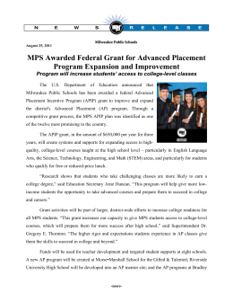 information on the grant award.