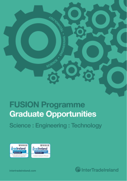 FUSION Programme Graduate Opportunities