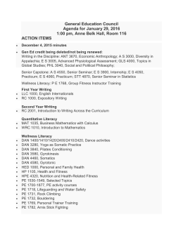 General Education Council Agenda for January 29, 2016 1:00 pm