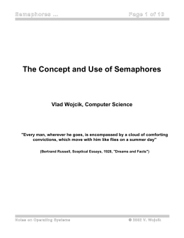 The Concept and Use of Semaphores