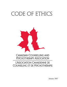 code of ethics - Canadian Counselling and Psychotherapy Association
