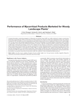 Performance of Mycorrhizal Products Marketed for