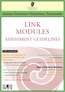 Link Modules Assessment Guidelines
