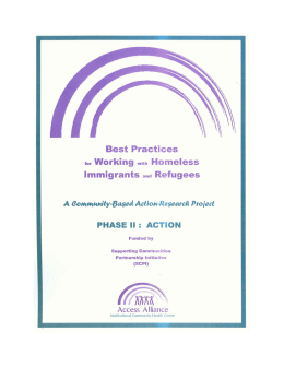 Best Practices for Working with Homeless Immigrants and Refugees