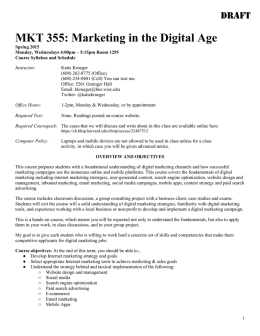 Marketing in the Digital Age - Syllabus
