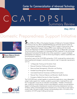 DPSI Summary Report - Center for Commercialization of Advanced