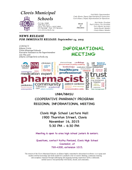 PRESS RELEASE - PHARMACY PROGRAM 2015