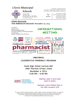 press release - pharmacy program - chs