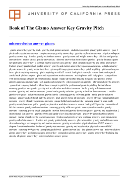 Gizmo Answer Key Gravity Pitch