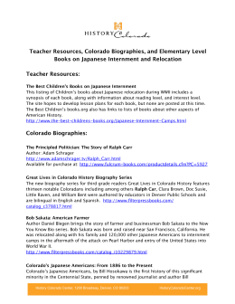 Teacher Resources, Colorado Biographies, and Elementary Level