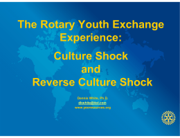 DWHITE lecture - Rotary Youth Exchange, District 6220