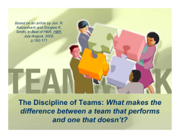 The Discipline of Teams: (PP Presentation)