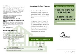 to view - Appletree Medical Practice