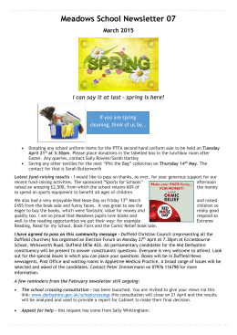 Meadows School Newsletter 07 - Duffield Meadows Primary School