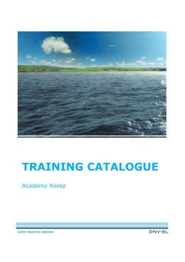 2016 Training Catalogue