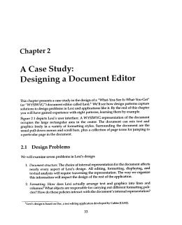 We will examine seven problems in Lexi`s design: 1. Document