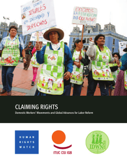 Claiming Rights - Human Rights Watch