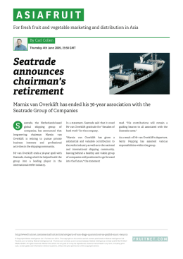 Seatrade announces chairman`s retirement